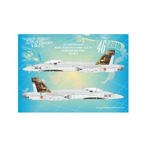 CALCAS EF-18 A HORNET (ALA 46) 50ª Aniversario Gando 1/48 - SE3448