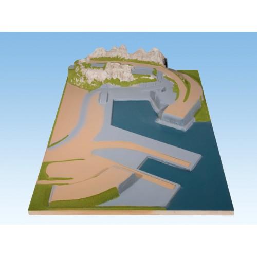 TOPORAMA: EXTENSION LATERAL DERECHO INDUSTRIA-PUERTO (1200 x 1800 x 300 mm) Escala H0 - Noch 80140