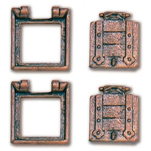 TRONERAS METAL CON PORTON (10 x 11 mm) 2 unidades - CONSTRUCTO 80211