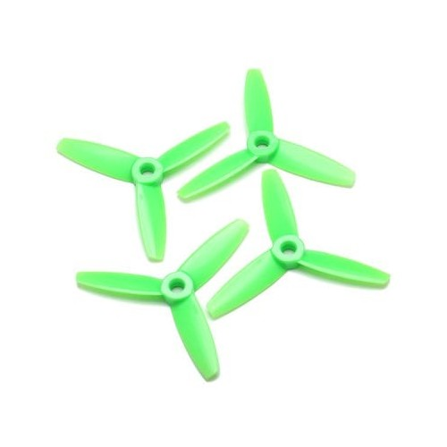 SET 4 HELICES TRIPALAS 4 x 4,5 (normal + invertida) VERDE - Gemfan 3934
