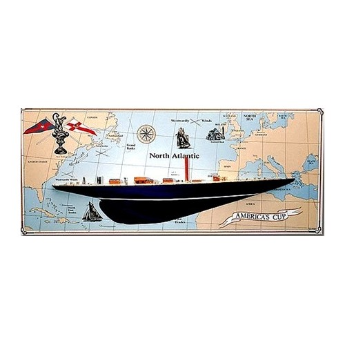 SECCION ENDEAVOUR+MAPA PARED AMERICA´S CUP 1934 1/80 - AMATI 1700/01