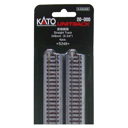RECTA 248mm (BLISTER DE 4 RECTAS) - KATO S248