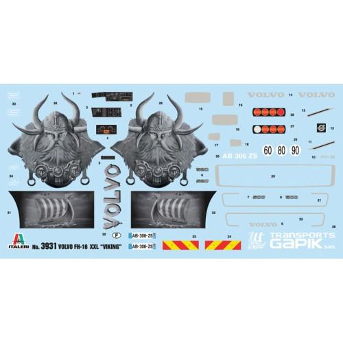CAMION VOLVO FH16 XXL -Viking- Italeri 3931