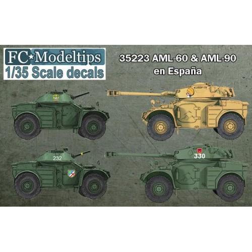 CALCAS VEHICULOS BLINDADOS PANHARD AML 60 & 90 ESPAÑA - FC Modeltips 35223