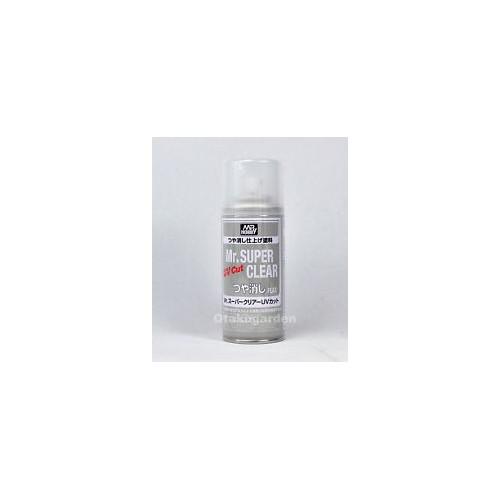 SPRAY BARNIZ MATE (170 ml) -Mr. SUPER CLEAR FLAT UV CUT - Gunze Sagyo B523:800
