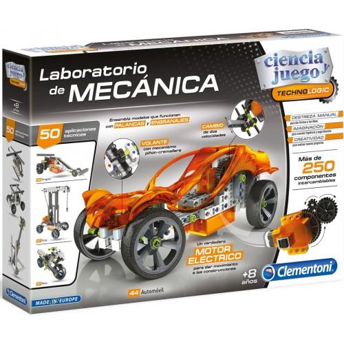 LABORATORIO DE MECANICA PALANCAS Y ENGRANAJES- CLEMENTONI 55125