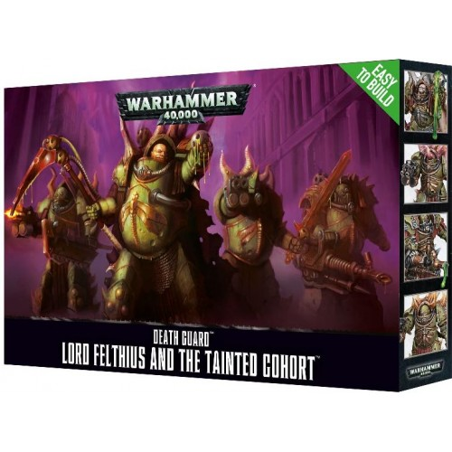 DEATH GUARD LORD FELTHIUS AND THE TAINTED COHORT EASY TO BUILT -GAMES WORKSHOP 43-57