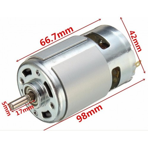 MOTOR 775 TIPO MABUCHI DIAM. EJE 5mm