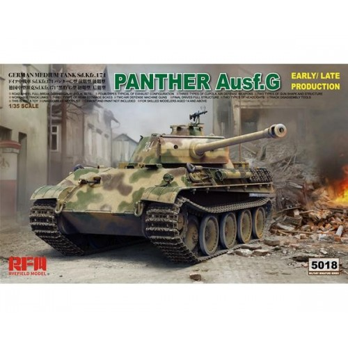 CARRO DE COMBATE SD.KFZ 171 PANTHER G 1/35 - Rye Field Model RM5018