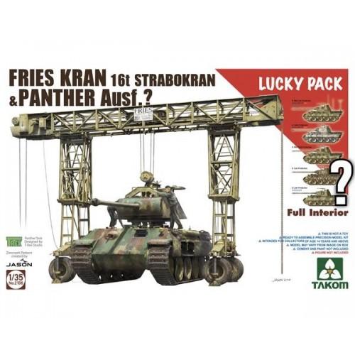 GRUA PORTICO FRIES KRAN 16t Strabokran 1943/44 & CARRO DE COMBATE Sd.Kfz. 171 Panther (Iinterior) 1/35 - Takom 2108