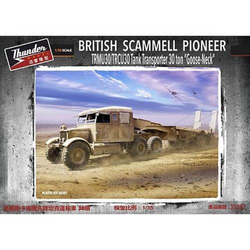 CAMION SCAMMELL & TRAILER PORTA CARROS TRCU30/ TRMU30 -Goose Neck- 1/35 - Thunder Model 35207