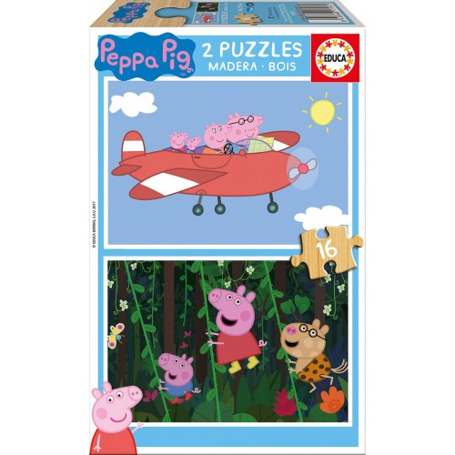 PUZZLES 2x16 PZAS PEPPA PIG EDUCA 17157