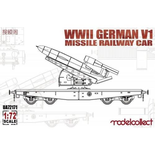 VAGON PLATAFORMA & MISIL V1 1/72 - Modelcollect UA72171