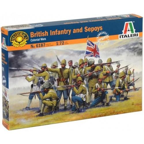 INFANTERIA BRITANICA & SEPOYS -Ejercito de la India- 1/72 - Italeri 6187