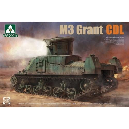 CARRO DE COMBATE M-3 GRANT CDL 1/35 - TAKOM 2116
