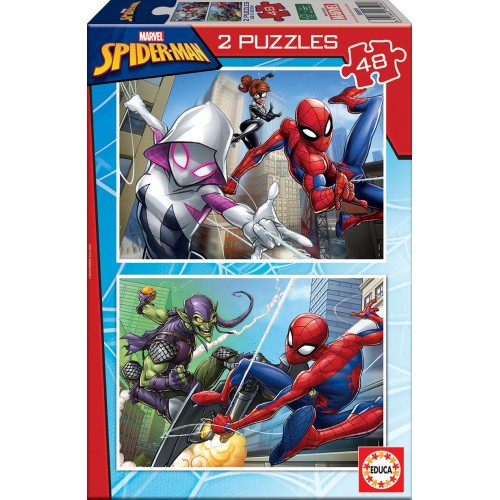 PUZZLE 2 x 48 Pzas SPIDERMAN - Educa 18099