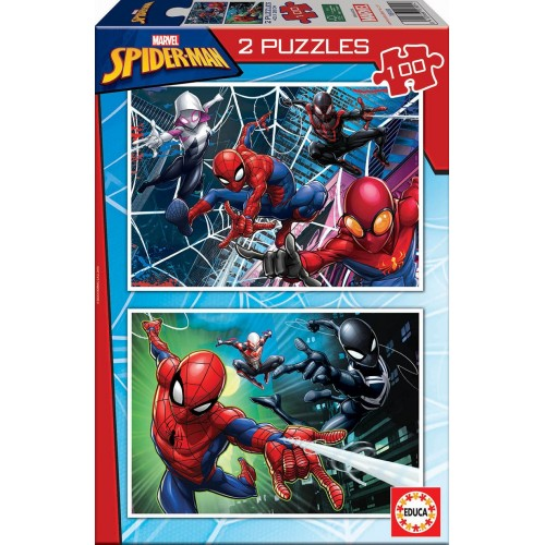 PUZZLE 2 x 100 Pzas SPIDERMAN - Educa 18101