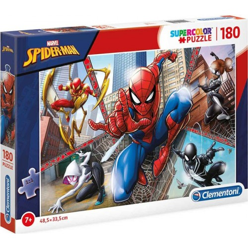 PUZZLE 180 PZS SPIDERMAN SUPERCOLOR - CLEMENTONI 29302