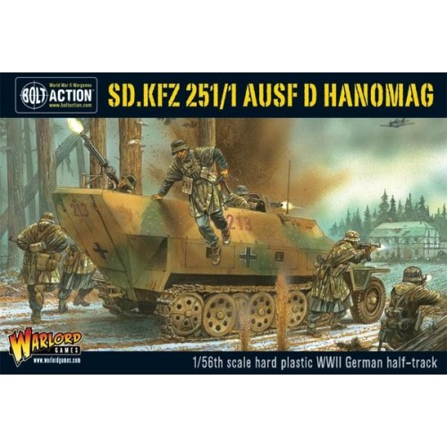 TRANSPORTE DE TROPAS Sd.Kfz. 251/1 Ausf. D HANOMAG -1/56- Warlord Games 402012003