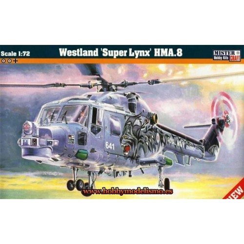 WESTLAND SUPER LYNX HMA.8 - ESCALA 1/72 - MISTER CRAFT 040024