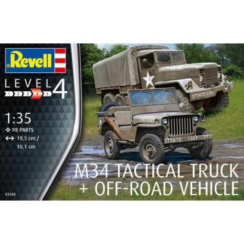 CAMION M-34 (Melilla) & Jeep Willys -1/35- Revell 03260