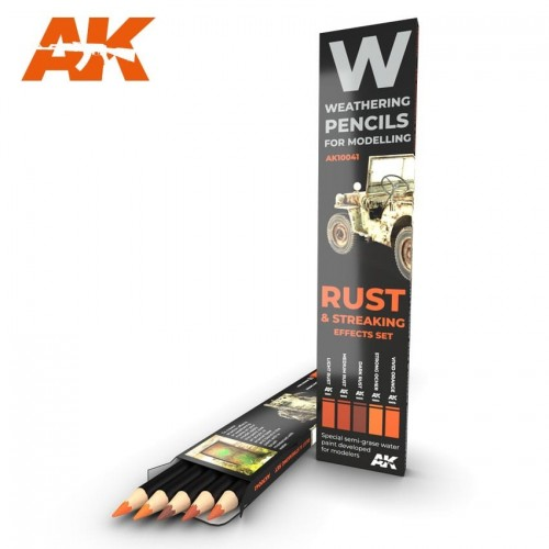 Watercolor pencil: RUST AND STREAKING - AK Interactive 10041