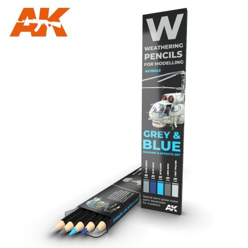 Watercolor pencil: GREY and BLUE - AK Interactive 10043