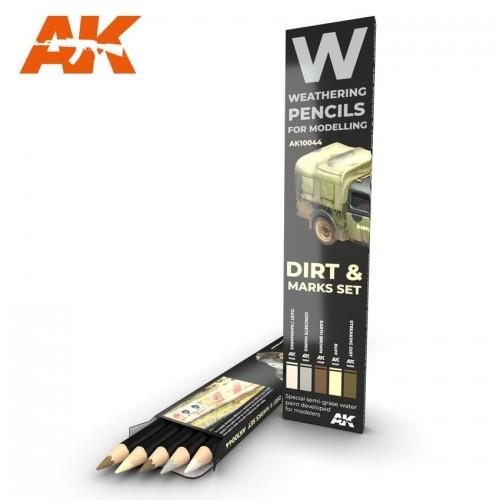 Watercolor pencil: DIRT & MARK SET - AK Interactive 10044
