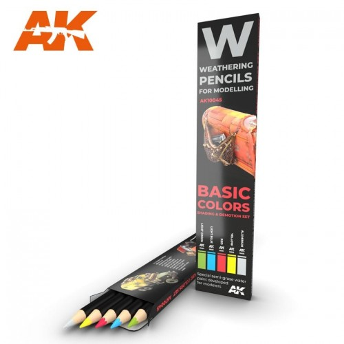 Watercolor pencil: BASIC COLORS - AK Interactive 10045