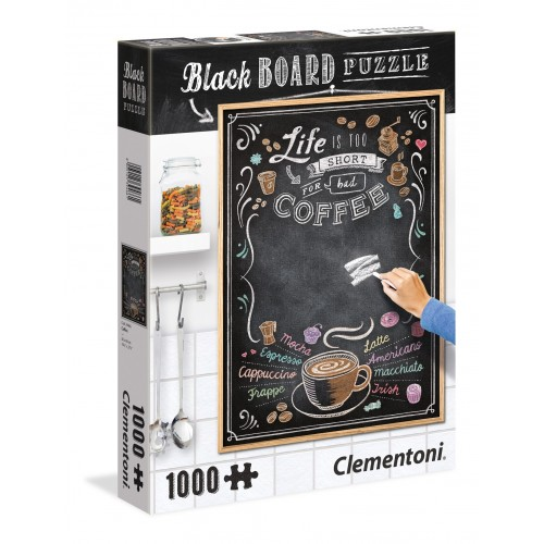 PUZZLE 1000 PZS BLACK BOARD COFFEE - CLEMENTONI 39466