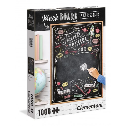 PUZZLE 1000 PZS BLACK BOARD THINK OUTSIDE THE BOX - CLEMENTONI 39468