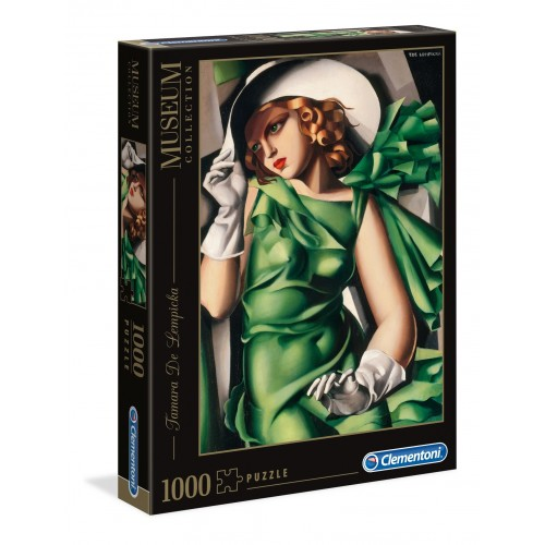 PUZZLE 1000 PZS YOUNG LADY WITH GLOVES - LEMPICKA - CLEMENTONI 39332