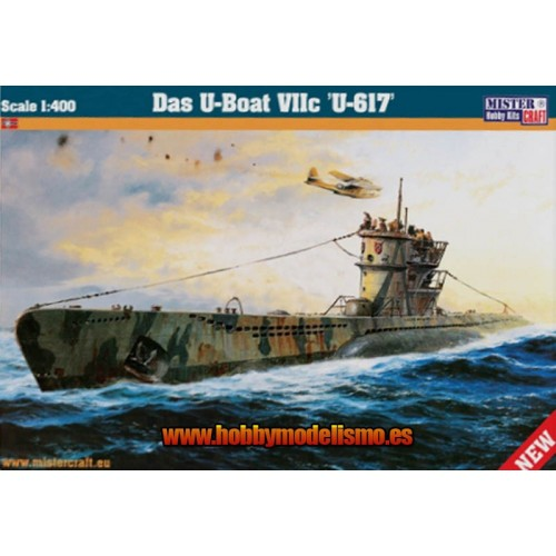 SUBMARINO Type VII (U-BOAT U-617) -1/400- MISTER HOBBY CRAFT 042905