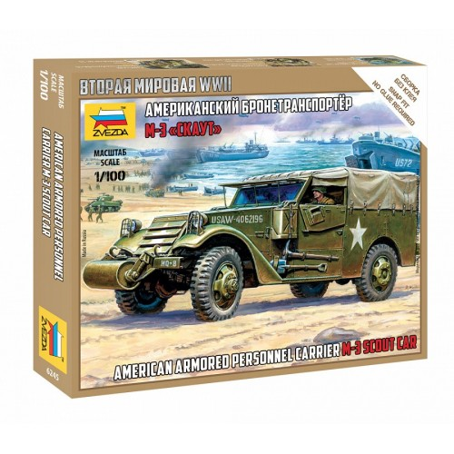 CAMION BLINDADO M-3 SCOUT CAR -1/100- Zvezda 6245