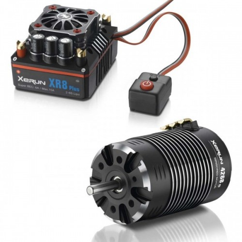 Xerun XR8 Plus Combo con 4268-2200kV para 1:8 Truggy Monster HOBBYWING 38020424