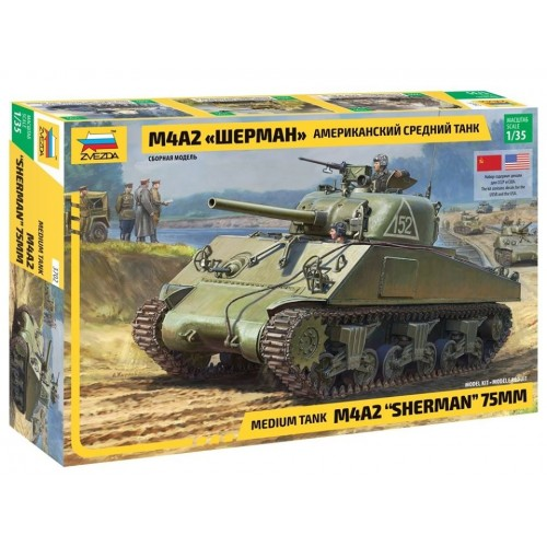 CARRO DE COMBATE M-4 A2 SHERMAN (Sovietico) -Escala 1/35- Zvezda 3702