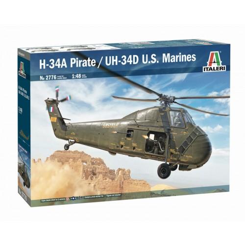 UH-34D USMC / H-34A PIRATE ESCALA 1/48 ITALERI 2776