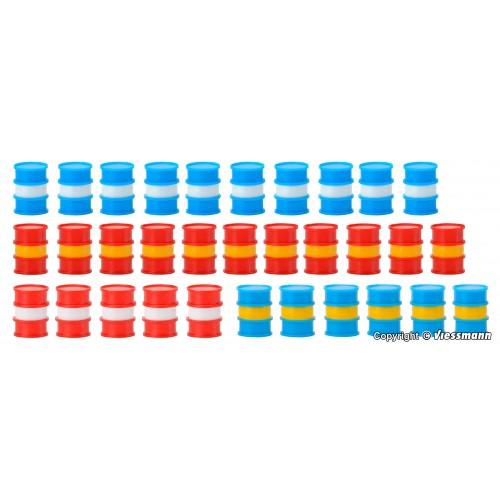 SET 32 BIDONES ESCALA H0 - KIBRI 39386