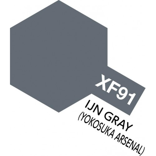 "PINTURA ACRILICA IJN GRIS ""Yamato"" MATE XF-91 (10 ml) - Tamiya 81791"