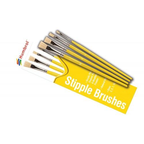 SET PINCELES PLANOS PUNTEADO (3, 5, 7, 10) - Humbrol AG4306