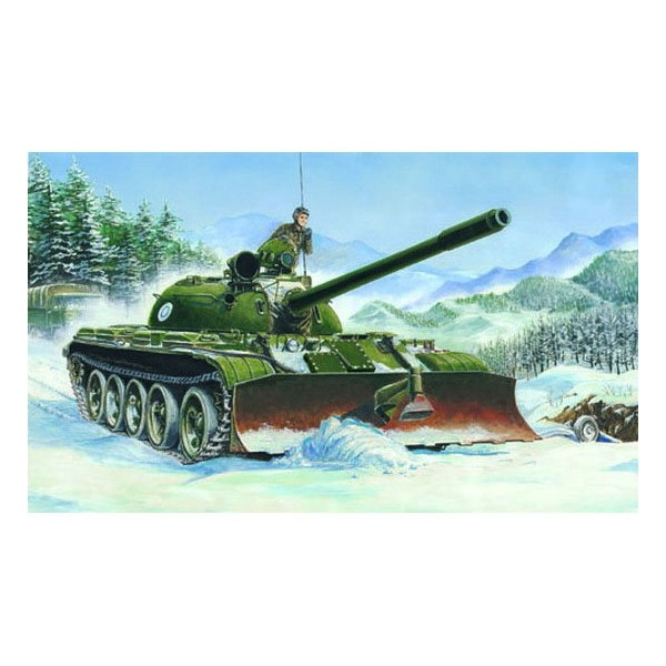 CARRO COMBATE T-55 (1958) & BTU-55 (Pala) -Escala 1/35- Trumpeter 00313