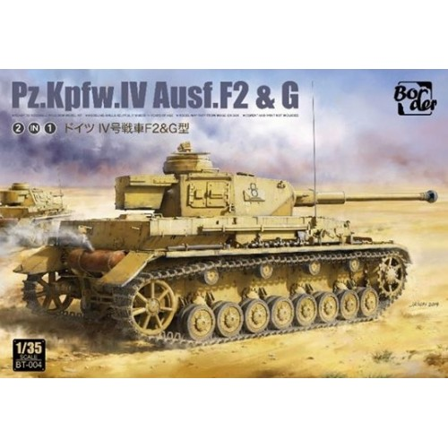 CARRO DE COMBATE Sd.Kfz. 161 Ausf. F2 & G Panzer IV -Escala 1/35- Border Model BT-004