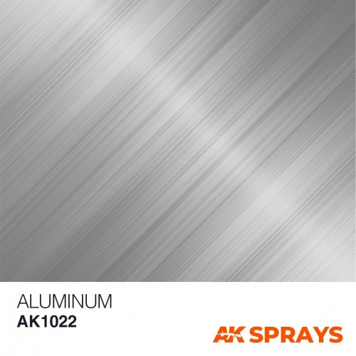 SPRAY COLOR ALUMINIO 150 ml - AK 1022