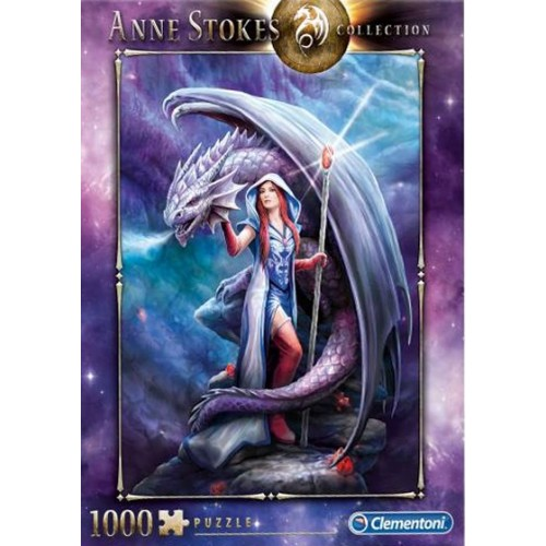 PUZZLE 1000 pzs Anne Stokes Collection: DRAGON MAGE - Clementoni 39525
