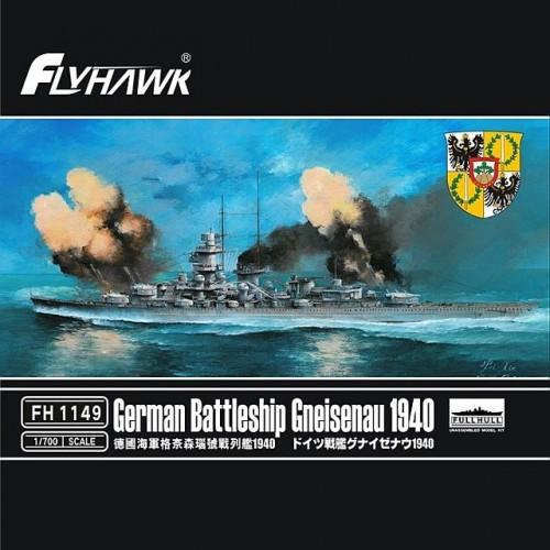 ACORAZADO GNEISENAU (1940) -Escala 1/700- Fly Hawk FH1149