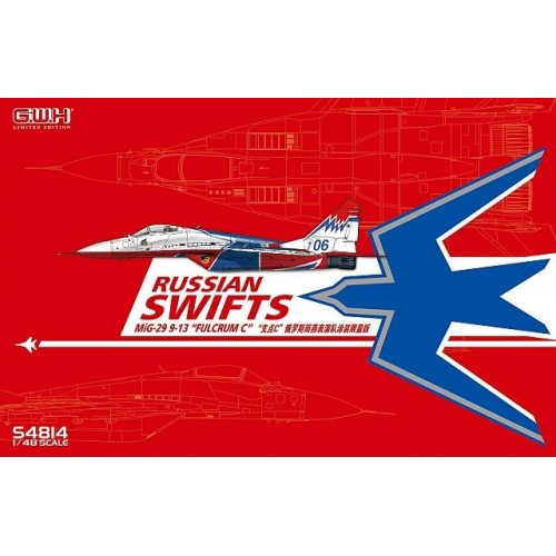 "MIKOYAN GUREVICH Mig-29 9-13 FULCRUM ""Russian Swift"" -Escala 1/48- Great Wall Hobby S4814"