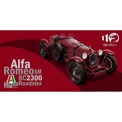 "ALFA ROMEO 8C/2300 ""Roadster"" 110 ANIVERSARIO -Escala 1/12- Italeri 4708"