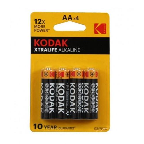 PACK PILA ALCALINA 1,5 V (4 unidades) LR6 - KODAK 95202