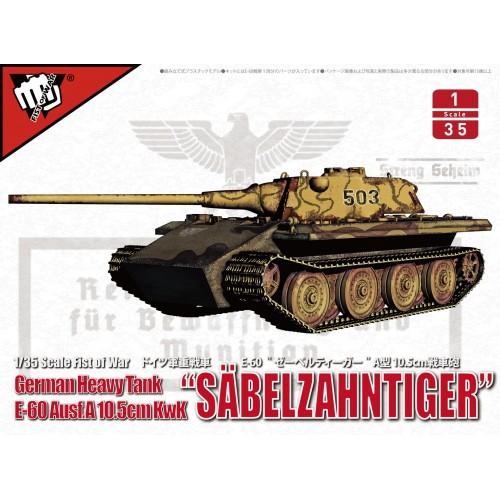 "CARRO DE COMBATE E-60 Ausf. A (105 mm) ""Sabelzahntiger"" -Escala 1/35- ModelCollect UA35020"