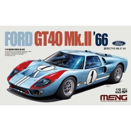 FORD GT-40 Mk. II (1966) -Escala 1/12- MENG Model RS-002